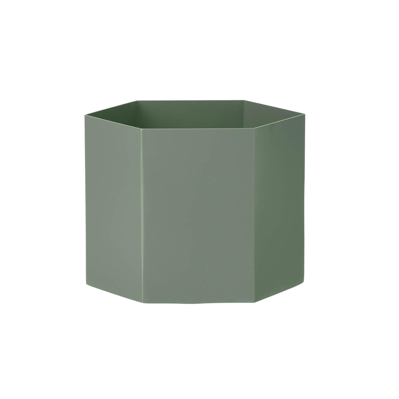 ferm living blumentopf xl hexagon gr n ca 18 x h14 cm. Black Bedroom Furniture Sets. Home Design Ideas