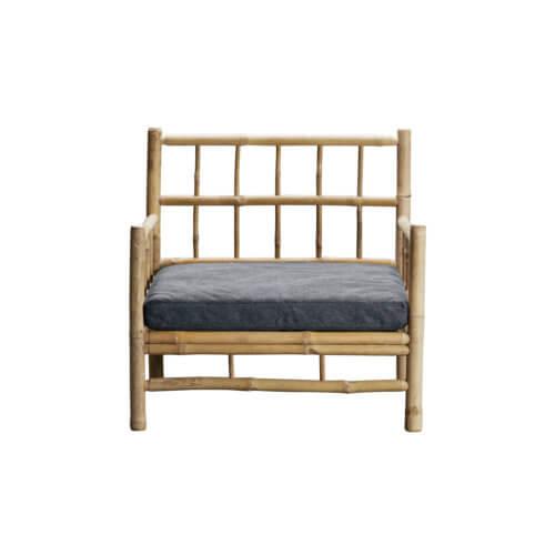 Tine K Home – Bambus Lounge Sessel Anthrazir