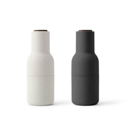 MENU – Bottle Grinders 2er Set – Ash & Carbon / Wallnuss