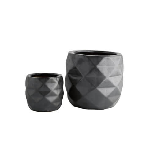 TineK Blumentopf-Set Geometrik Anthrazit