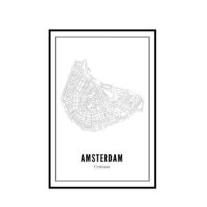Print –Stadtplan Amsterdam Zentrum – Poster A4