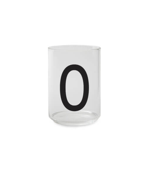 Design Letters Trinkglas O