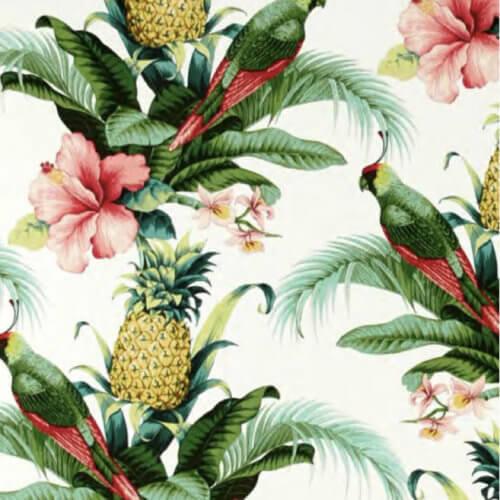 366 FOX Lounge Sessel – Kollektion Deco – Jungle Pineapple White