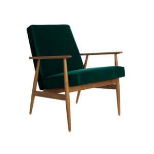 366 FOX Lounge Sessel – Kollektion Velvet, Farbe Bottle Green