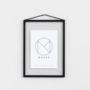 Moebe – Bilderrahmen Aluminium – Schwarz A4