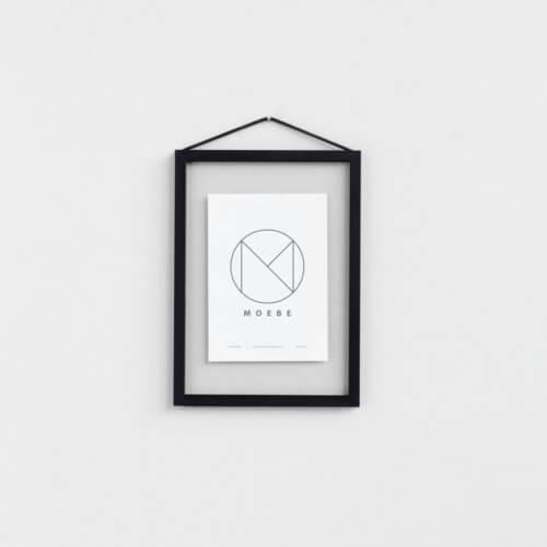 Moebe – Bilderrahmen Aluminium – Schwarz A5