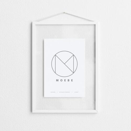 Moebe – Bilderrahmen Aluminium – Weiß A4