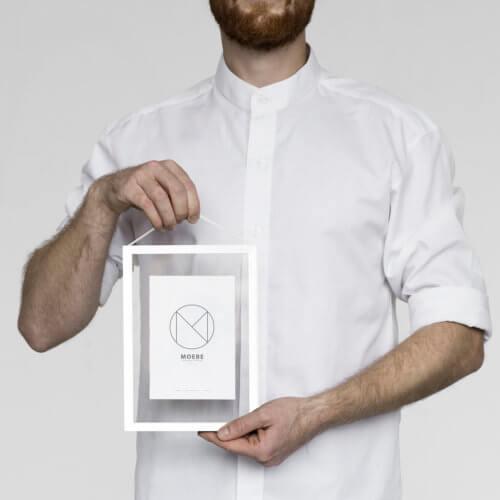 Moebe – Bilderrahmen Aluminium – Weiß A5