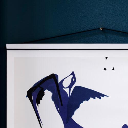 Moebe – Bilderleiste für Poster – Schwarz