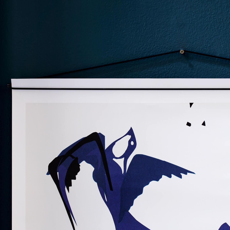 Moebe – Posterleiste – Schwarz – L 50 cm – 2 Größen