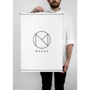 Moebe – Bilderleiste für Poster – Schwarz – L 50 cm
