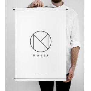 Moebe – Bilderleiste für Poster – Schwarz – L 70 cm