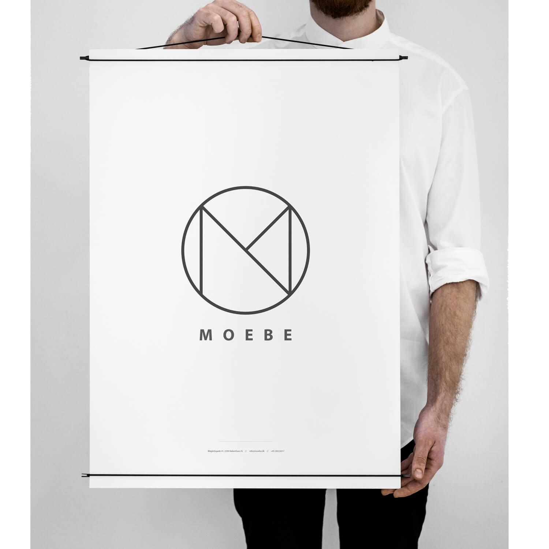 Moebe – Posterleiste – Schwarz – L 70 cm – 2 Größen