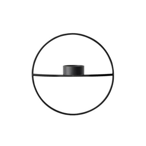 MENU – POV Teelichthalter Circle – Schwarz S