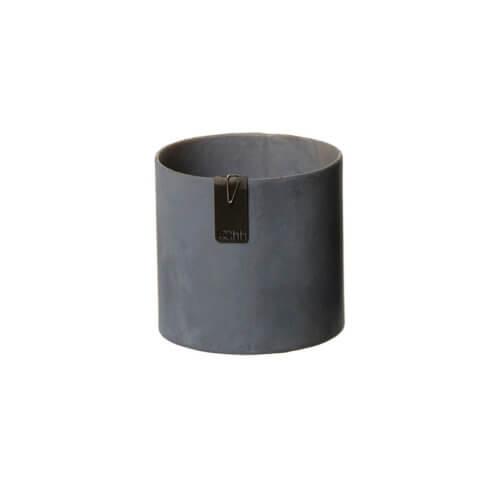 OOhh Kollektion – Blumentopf Tokyo Cylinder – Dunkelgrau XS
