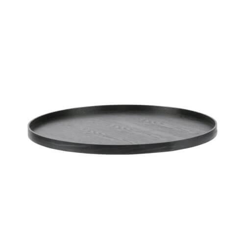 Woood – Tablett aus Holz – Schwarz Ø60 cm