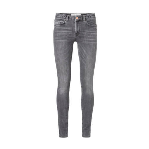 YAYA – Enge Denim-Jeans – Dunkelgrau