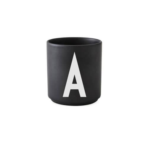 Design Letters Porzellan-Becher A Schwarz