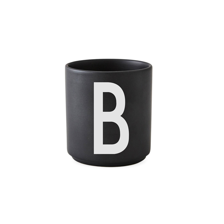 design letters porzellan becher b schwarz ca 8 x. Black Bedroom Furniture Sets. Home Design Ideas