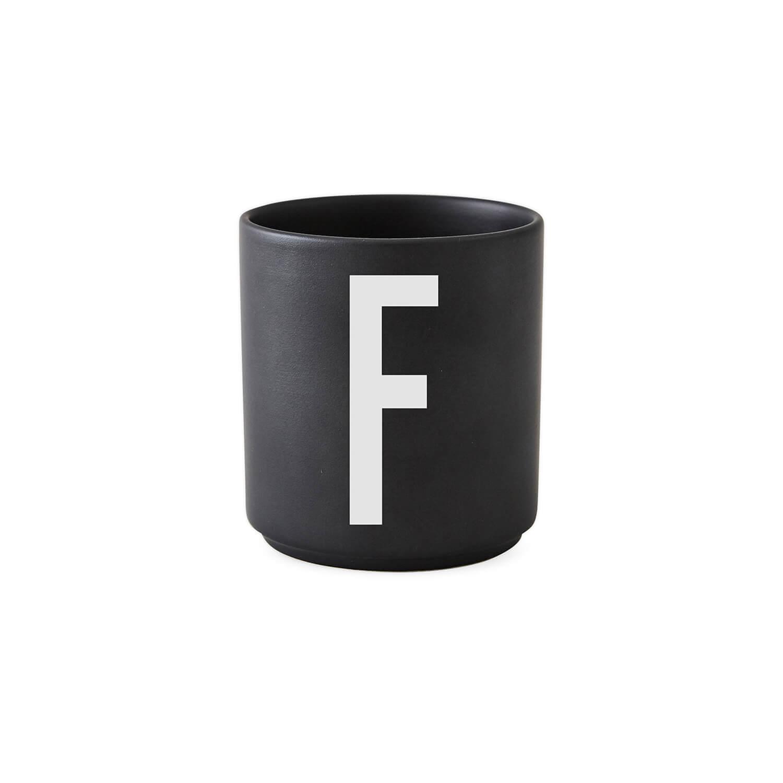 design letters porzellan becher f schwarz ca 8 x. Black Bedroom Furniture Sets. Home Design Ideas