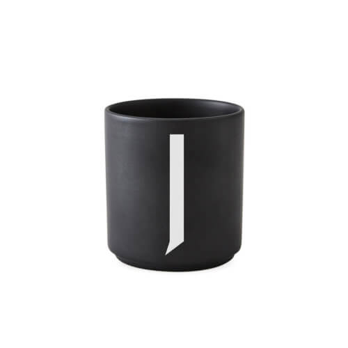 Design Letters Porzellan-Becher J Schwarz