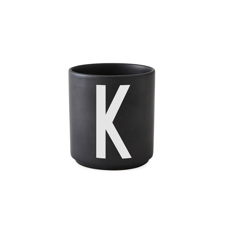 design letters porzellan becher k schwarz ca 8 x h 9 cm. Black Bedroom Furniture Sets. Home Design Ideas