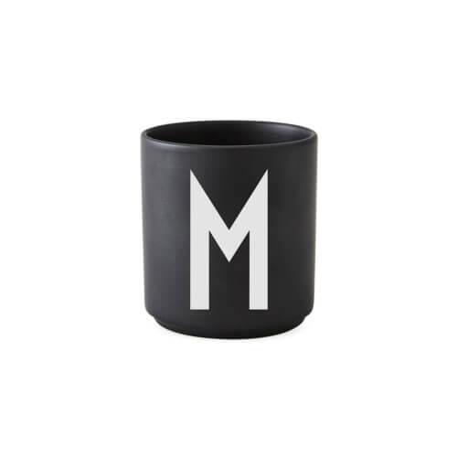Design Letters – Porzellan-Becher M – Schwarz