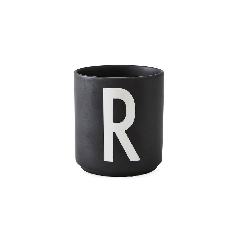 design letters porzellan becher r schwarz ca 8 x h 9 cm. Black Bedroom Furniture Sets. Home Design Ideas