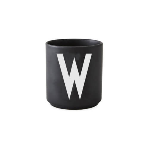 Design Letters – Porzellan-Becher W – Schwarz