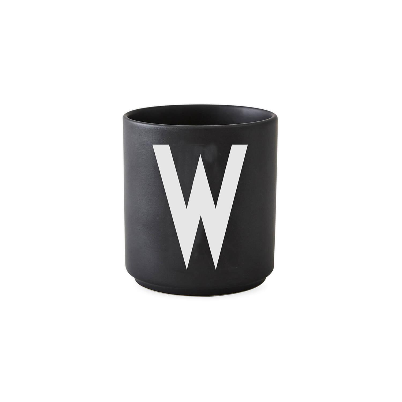design letters porzellan becher w schwarz ca 8 x. Black Bedroom Furniture Sets. Home Design Ideas