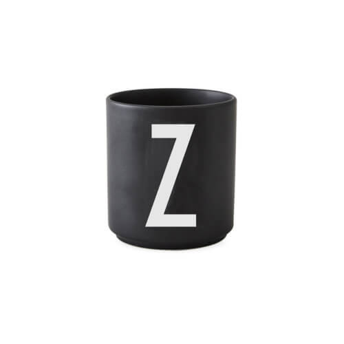Design Letters – Porzellan-Becher Z – Schwarz