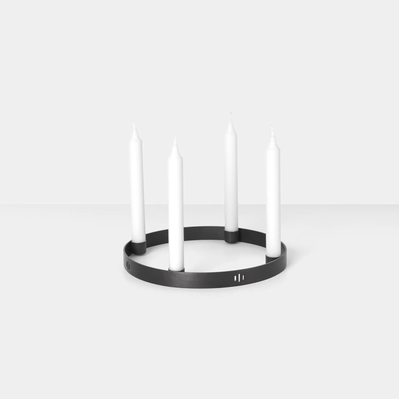 ferm living adventskranz circle schwarz s ca 25 cm. Black Bedroom Furniture Sets. Home Design Ideas