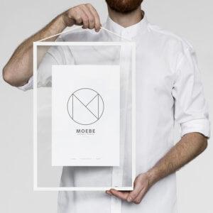 Moebe – Bilderrahmen Aluminium – Weiß A3