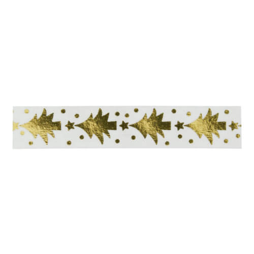 Madam Stoltz – Masking Tape – Transparent + Goldene Weihnachtsbäume