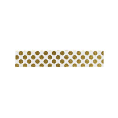 Madam Stoltz – Masking Tape – Transparent + Goldene Punkte