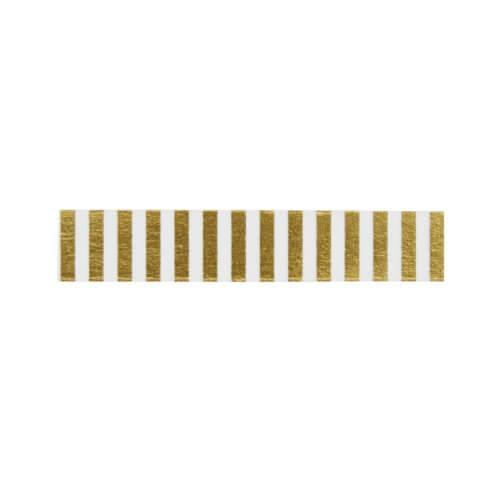 Madam Stoltz – Masking Tape – Transparent + Goldene Streifen
