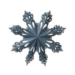 Broste Copenhagen Papierstern Snowflake Blau