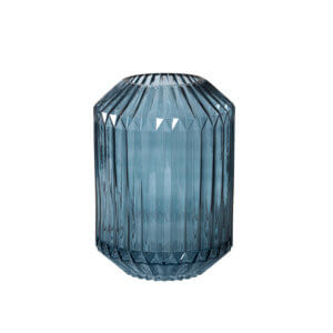 Broste Copenhagen – Vase GROOVE – Blau