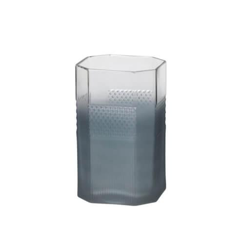Broste Copenhagen – Vase PATTERN M – Blau – ca. Ø11 x H18 cm