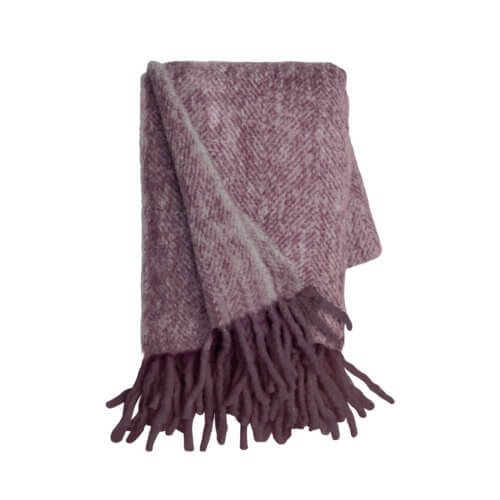 Cozy Living Copenhagen – Decke Mohair Grape