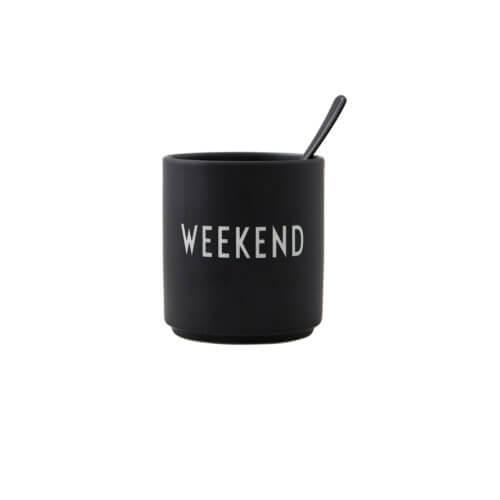 Design Letters – Porzellan-Becher Weekend