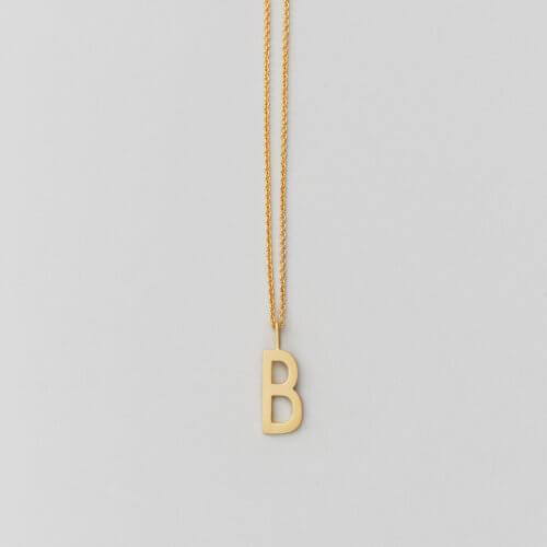 Design Letters – Kette mit Buchstabe B (16 mm)