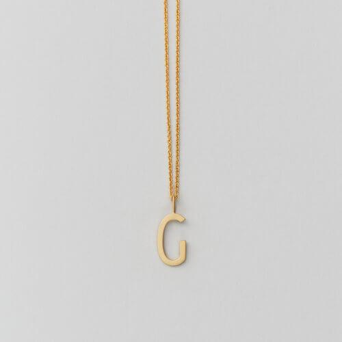 Design Letters – Kette mit Buchstabe G (16 mm)