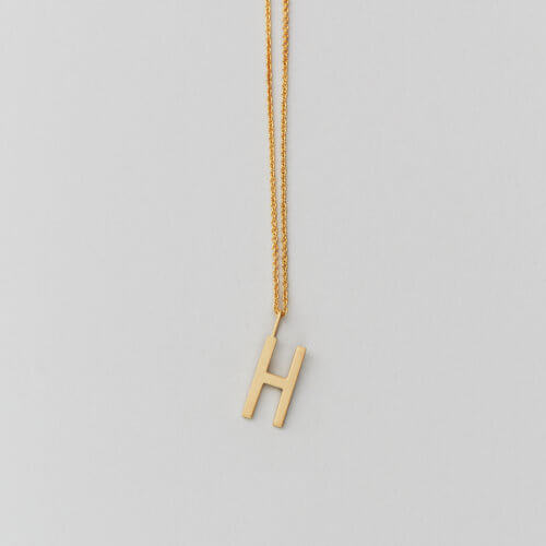Design Letters – Kette mit Buchstabe H (16 mm)