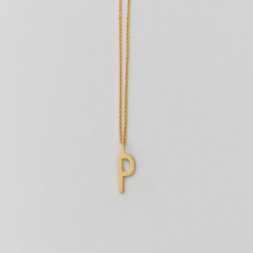 Design Letters – Kette mit Buchstabe P (16 mm)