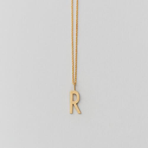 Design Letters – Kette mit Buchstabe R (16 mm)