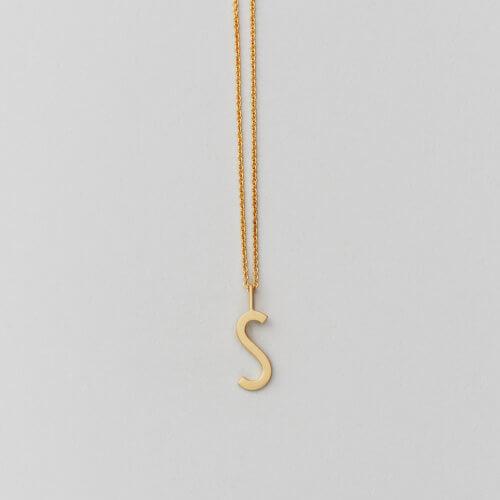 Design Letters – Kette mit Buchstabe S (16 mm)