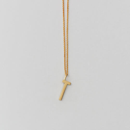 Design Letters – Kette mit Buchstabe T (16 mm)