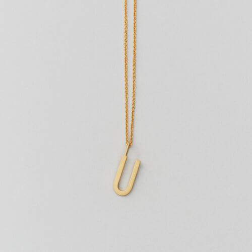 Design Letters – Kette mit Buchstabe U (16 mm)