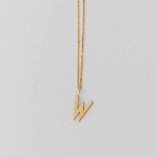 Design Letters – Kette mit Buchstabe W (16 mm)